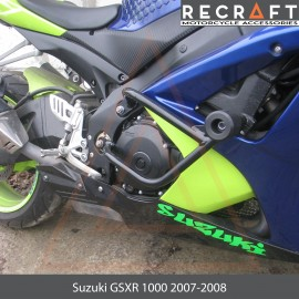 Crash bars with sliders Suzuki GSXR1000 2007-2008