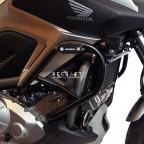 Top crash bars with sliders for Honda NC750S / NC750SD 2012-2020